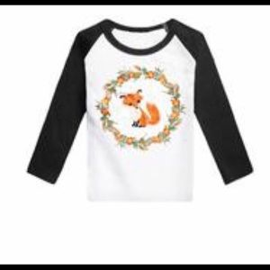 Other - Black Raglan Fox Floral